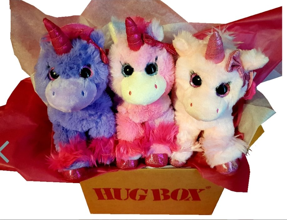 Unicorn Hug Box  Choose all 3 Unicorns in a Hug Box OR a Unicorn plus treats  http://www. HugBox.co.uk      #hug #box #Birthday #Thanks #GetWell #ThinkingOfYou #GiftBetter #GiftIdea #CheerUp #ThankYou #Free #Personalised #message #Gift #Unicorn #Scotland #Smile <br>http://pic.twitter.com/v37rNkWsoi