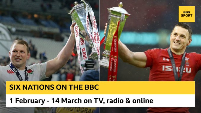 test Twitter Media - #SixNations on the @BBC:  🏉 Jonathan Davies 🏉 Dylan Hartley 🏉 Michael Cheika  🏆 Eight televised matches  🏆 Every home nations game on Radio @5liveSport & sports extra  🏆 Women's games streamed live  Full coverage details 👉 https://t.co/6H8obyuzw1  #bbcrugby https://t.co/XfV1l6CxUc