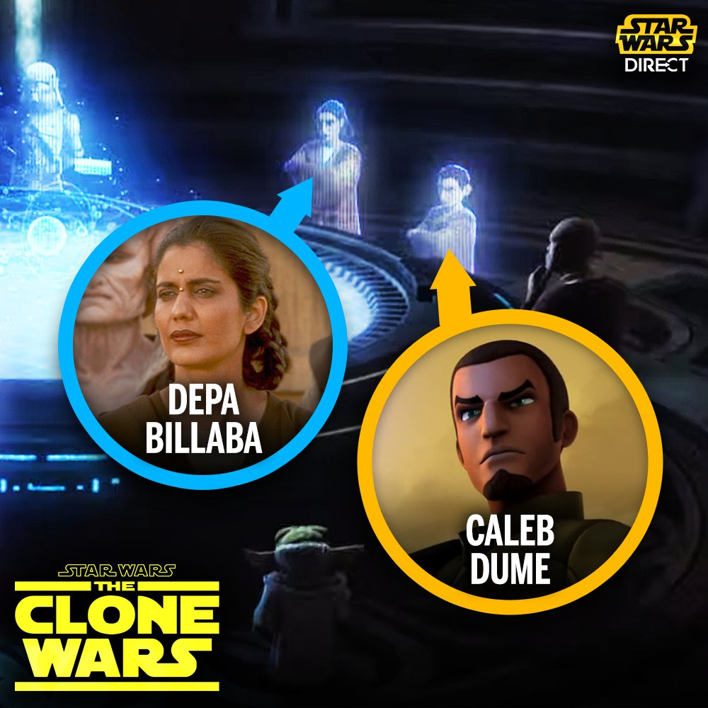 The new #StarWars: #TheCloneWars trailer shows a brief look at Depa Billaba (who first appeared in THE PHANTOM MENACE) alongside her apprentice Caleb Dume (a main character from #StarWarsRebels)!