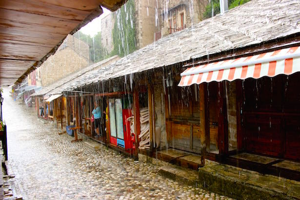The ancient market in Bosnia during a summer storm #Travel #PicoftheDay #Wanderlust http://bit.ly/1MynA1Y