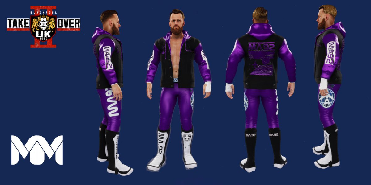 Mark Andrews NXT BlackPool 2 Attire #MarkAndrews #WWE #WWEFan #wwe2k20 #NXT #NXTonUSA #NXTUniverse #nxtuktakeover #TakeOver #ManMNanGears
