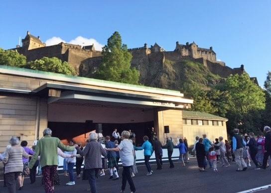 #ThrowbackThursday Brighten up your day & look forward to dancing in Princes St Gardens again this summer! #DanceScottish #Scottishcountrydancing #Edinburgh #fun #fitness #friendship