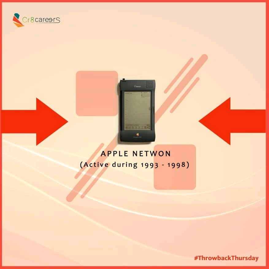 """The Apple Newton is an early device in the PDA category – the Newton originated the term """"personal digital assistant"""" – it was the first to feature handwriting recognition . #ThrowbackThursday . #Recruitment #Outsourcing #Assessments #OccupationalInterests #HRNigeriapic.twitter.com/SVeTIw1slA"""