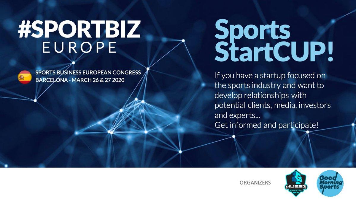 Si tienes una startup enfocada a la industria deportiva y quieres desarrollar relaciones con clientes, medios, inversores y expertos... ¡Infórmate y participa en la #SportsStartCUP! ow.ly/mVV950xUN4p @diarioas @sporthubla @fcbusiness @SportBuzzBizz @iusport @bcnhub23