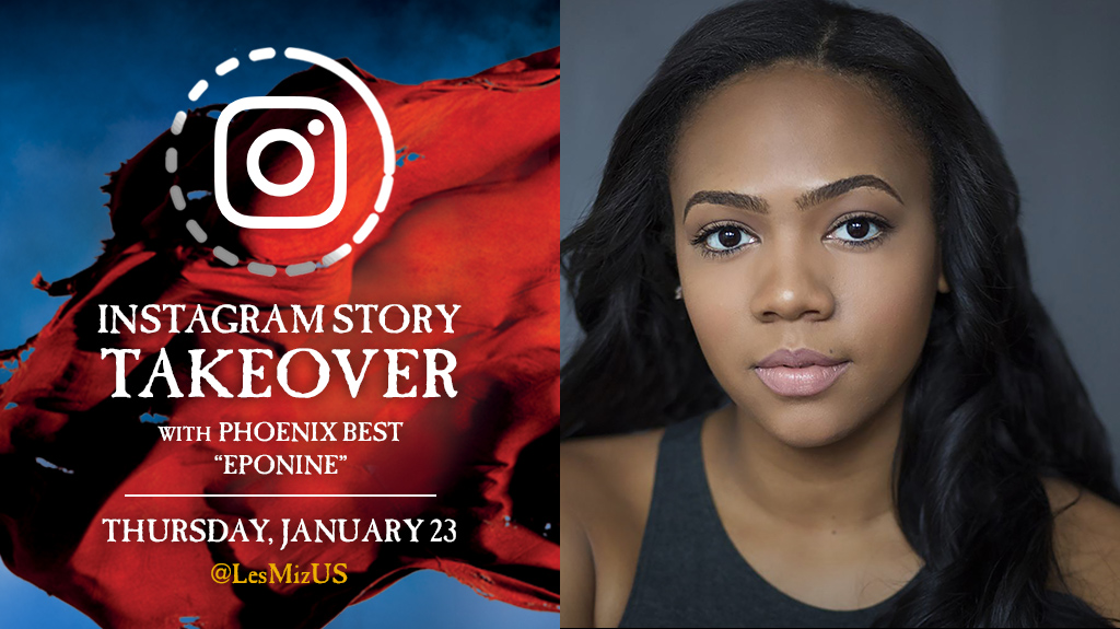 Tune in today for the latest #LesMizUS Instagram Story takeover, starring @misspheeny!