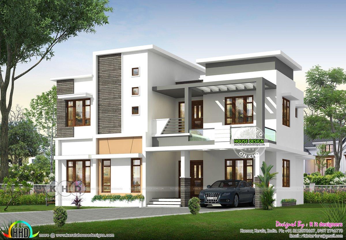 Kerala Home On Twitter Modern Flat Roof Home Https T Co Prwcbtyfoa