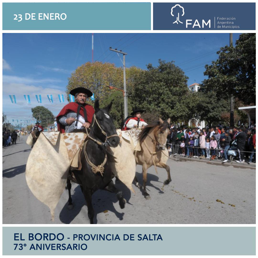 Saludos a la comunidad de El Bordo, por su aniversario.  #FAM #Salta #municipiosargentinos @MunicipalidadDeElBordo