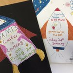 We're excited to welcome poet James Carter to The Manor tomorrow! The Pupil Librarians have made posters to put up around the school. @jamescarterpoet #Poetry #Reading #WeLoveReading #ManorPrep