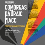 Image for the Tweet beginning: Comórtas Pádraic Fiacc  Comórtas Filíochta do
