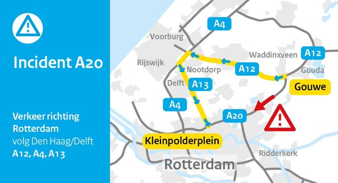 RT @RWSverkeersinfo: Richting Rotterdam? Je kunt beter omrijden 👇 https://t.co/gVuTiwZh4z