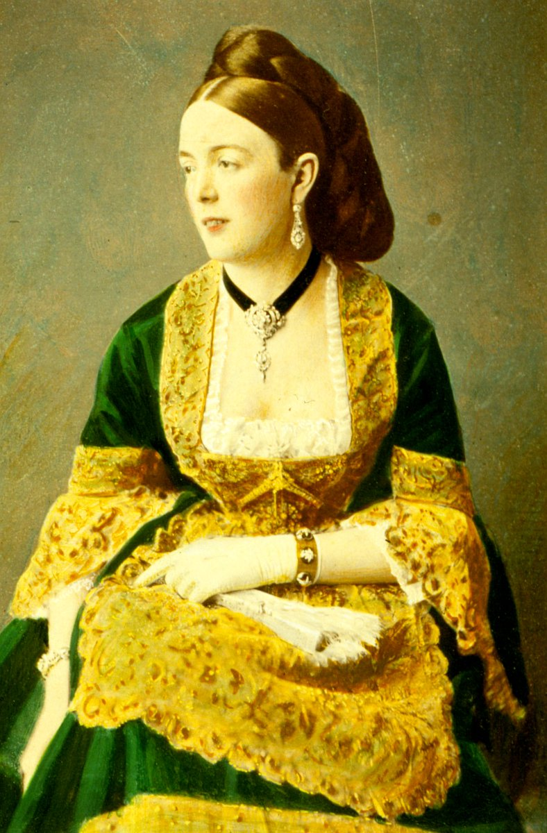 "Not me, but another Anna - Anna Harriet Brassey, all dressed up to attend my 1872 ""Fancy Ball"" at our home Normanhurst Court, #Catsfield #Sussex. Anna married my husband Tom's brother, Henry Arthur Brassey (1840-1891) in 1866. #Brassey #family #History #1870s #FancyDress #party"