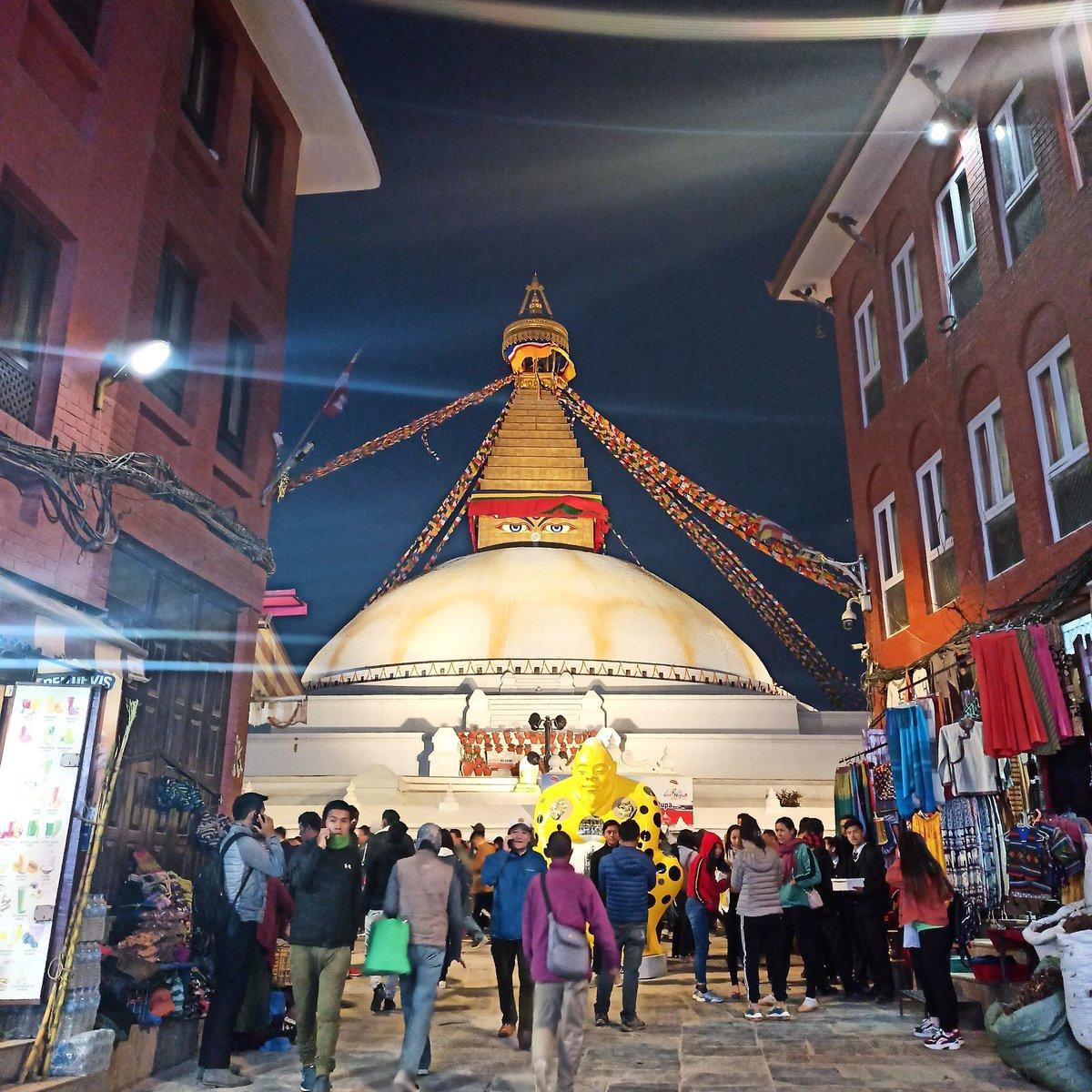 The entrance of Bouddhanath stupa, Nepal#travelnepal #travel #visitnepal2020 #photography #traverseynepal  #himalayas #town #snowwhite #nepal #traveller #trekking #hiking #adventure #winter #winterishere #mobilephotography #click #bluesky #sky #bouddhanath #stupa #peace #Buddha – at Boudhanath Stupa   बौद्धनाथ