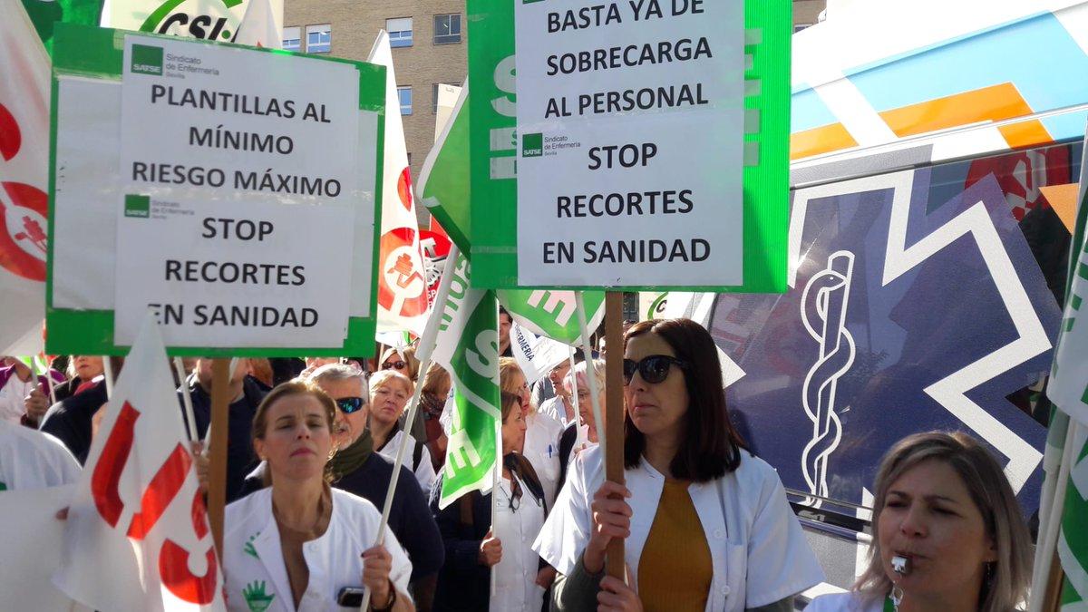 🛑✂️ #SATSE #Sevilla participará en la manifestación de @portusanidad contra los recortes sanitarios y anima a los profesionales a sumarse a la protesta 🗓️ 26 de enero 2020 ⏰ 12.00 horas 📍Sede SAS. Avda. Constitución #Sevilla 📄Aquí nuestros motivos 🔗bit.ly/2vbVNT6