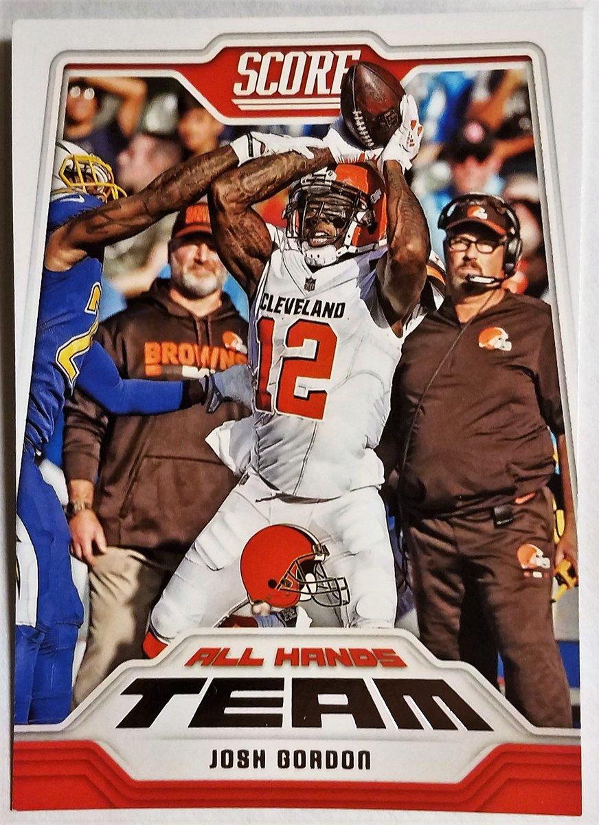 #Browns JOSH GORDON #14 ALL HANDS TEAM 2018 PANINI-SCORE FOOTBALL #NFL #Sportscards printspixnremix.com/browns