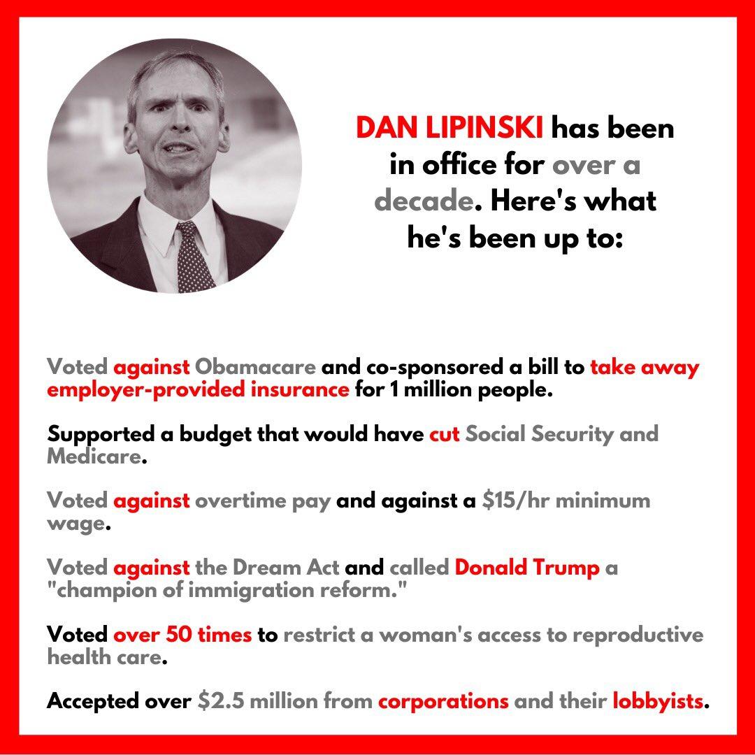 Dan Lipinski is not a Democrat. #IL03 #ILpolitics<br>http://pic.twitter.com/G3sxK4EUiC