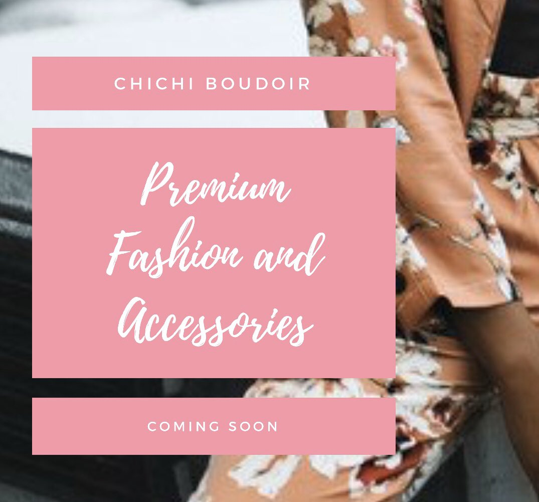 COMING SOON   #boutiqueshopping #fashion #boudoir #chichiboudoir #CCB #comingsoon #premium #premiumfashion #clothingbrand #accessories #makeup #shoes #fashionbrand #newbusiness #watchthisspace #comingsoon #notificationson #new #unique CCBpic.twitter.com/Xm9UCCHj9v