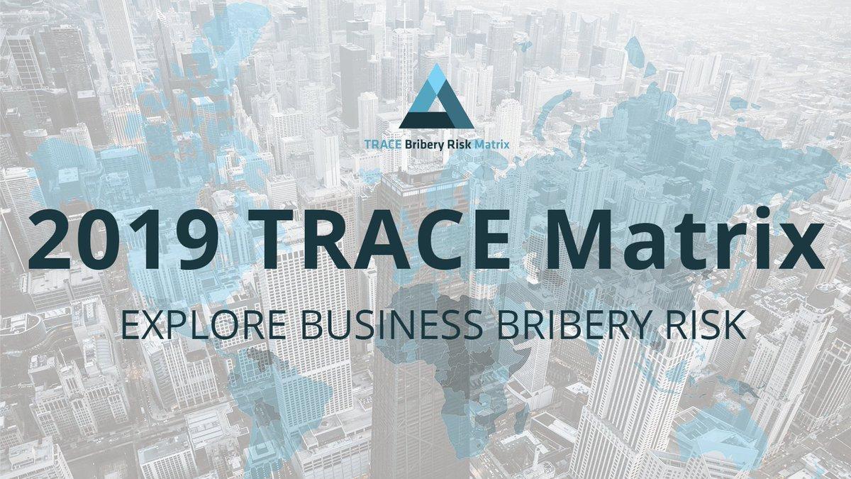 Image result for 2019 Trace bribery risk matrix