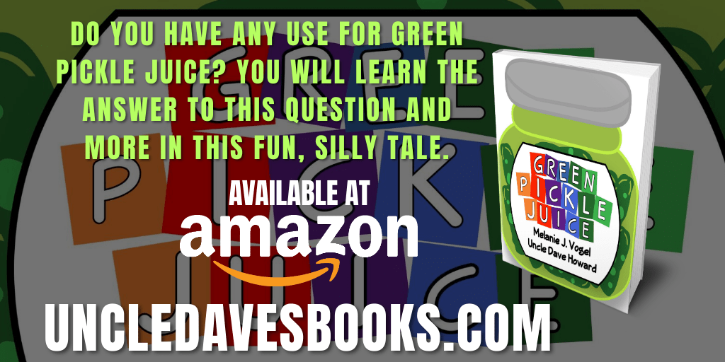 Do You Have Any Use for Green Pickle Juice?  Green Pickle Juice is available at    #asmsg #iartg #ya #childrensbooks #amreading #goodreads @uncledavesbooks @kitcatlyon #fun #funny #silly