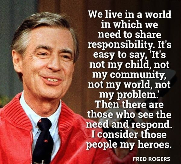 Things won't get better for Canada's kids until we start acting like they are ALL our children. We have a shared responsibility to raise a nation.  #childrenfirst #investinkids #childrenscharter #raisingcanada #raisinganation #thursdaythoughts #misterrogers #wontyoubemyneighbor pic.twitter.com/LWcrm281iy