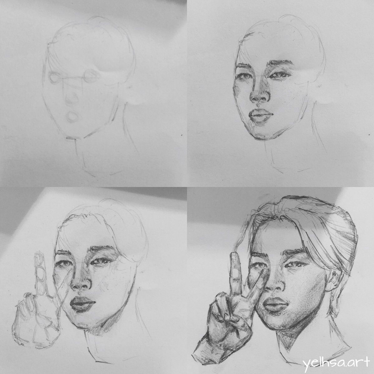 drawing process featuring jimin - [ #jimin #btsfanart @BTS_twt ] https://t.co/uw16f5m6Md