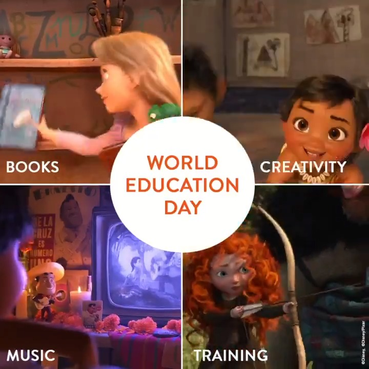Disney definition of education. #WorldEducationDay ❤👼