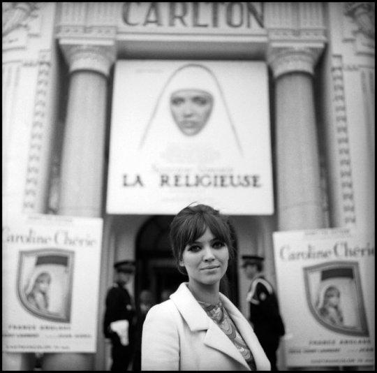 Anna Karina in Cannes, 1967