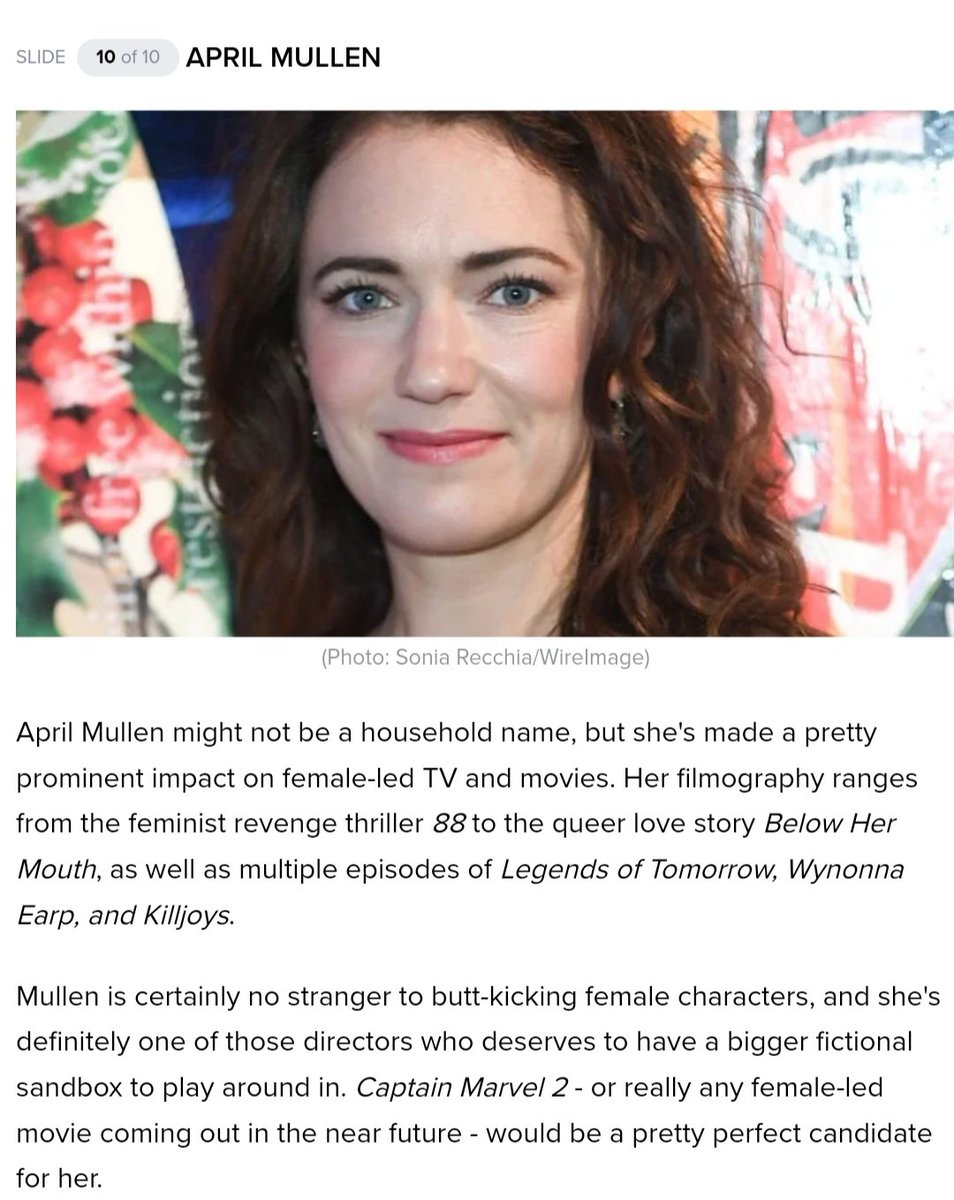 HELL YES, APRIL MULLEN FOR CAPTAIN MARVEL 2 📽 comicbook.com/marvel/2020/01…