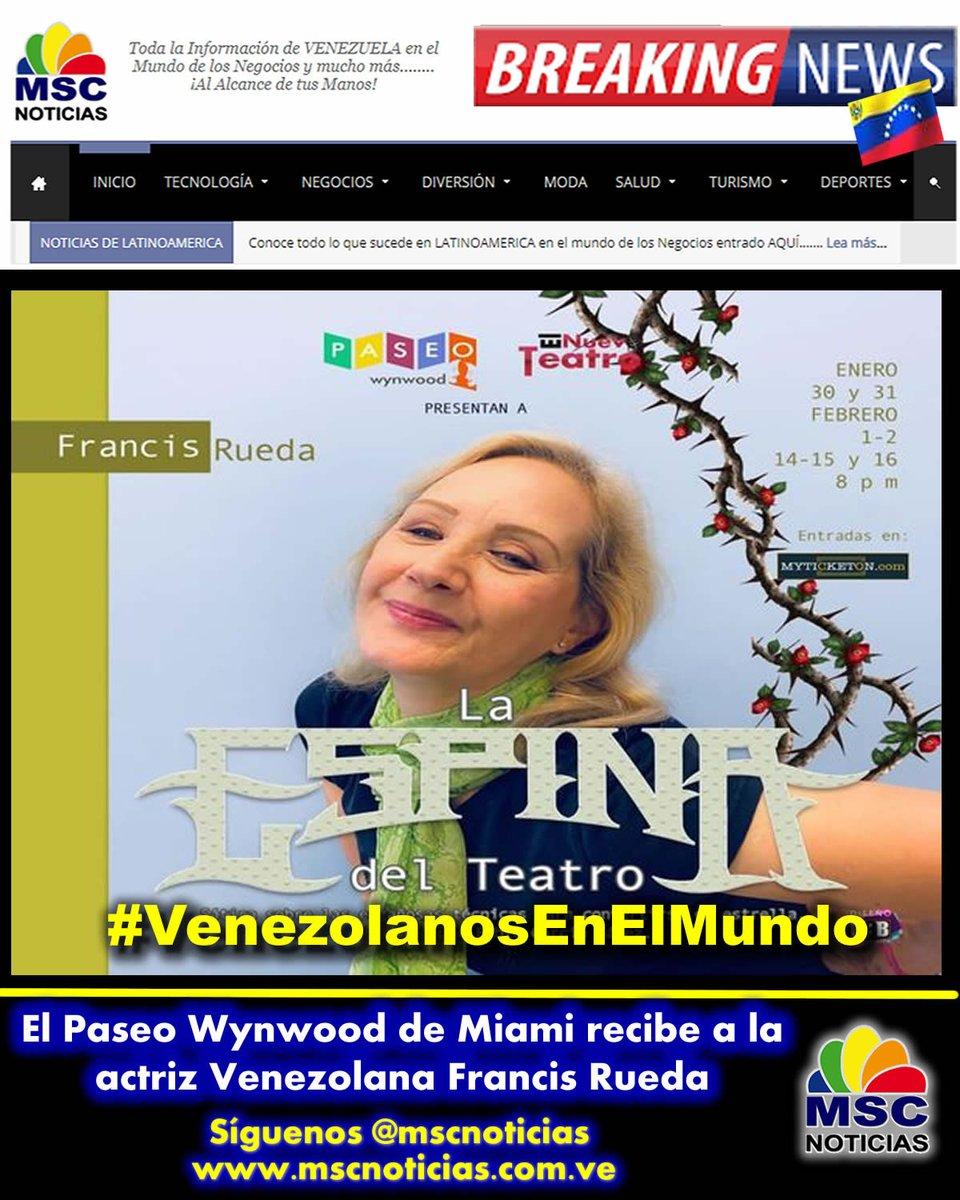 #VenEx El Paseo Wynwood de Miami recibe a la actriz Venezolana Francis Rueda http://bit.ly/2TPMbHX #TalentoVenezolano #Teatro #VenezolanosEnMiami #paseowynwood @paseowynwood #News #MSCNoticias #CMWorld #23Ene