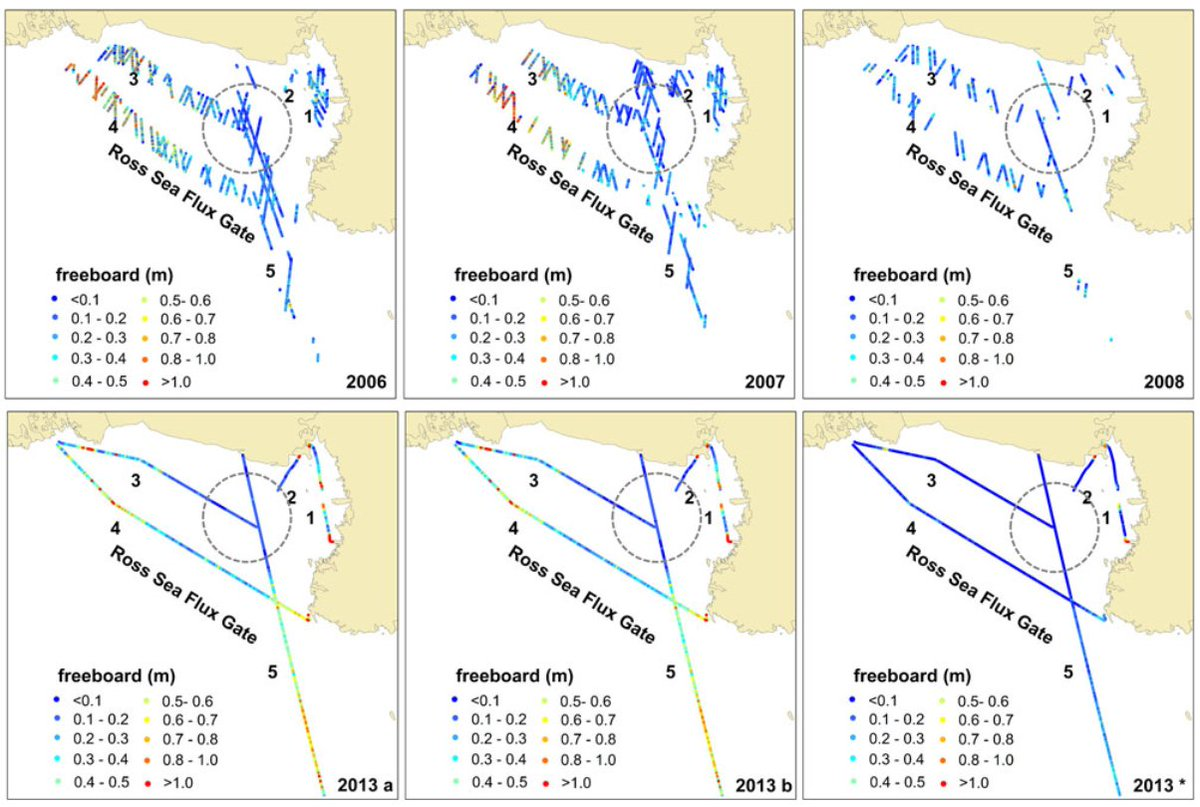 """""""Sea-ice freeboard and thickness in the Ross Sea from airborne (IceBridge 2013) and satellite (ICESat 2003–2008) observations"""" by L Tian, H Xie, S Ackley, J Tang, A Mestas-Nuñez & X Wang is now available https://doi.org/10.1017/aog.2019.49… @IGS2019 #IceBridge #ICESatpic.twitter.com/8FhUwIYOMu"""