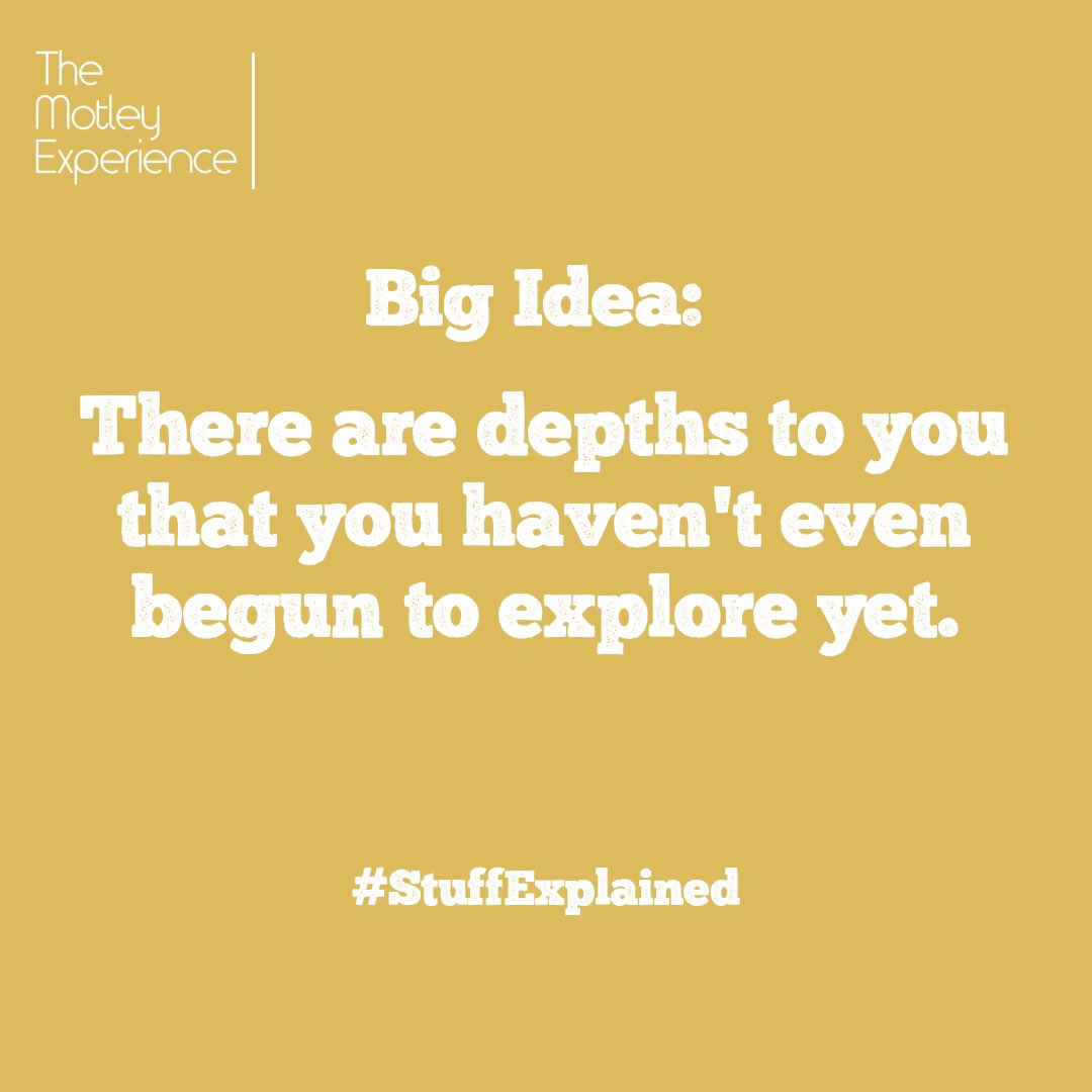 We are multi-faceted, dualistic, and undefinable.https://themotleyexperience.com/2020/01/20/stuff-explained-ep24-undefinable-big-idea/ …#stuffexplained #podcast #undefinable #limitless #mentalhealth #mentality #humanity #spirituality #potential #limitingbeliefs #health #wellness #blog #blogger #introspection #selfcare #selflove #selfworth
