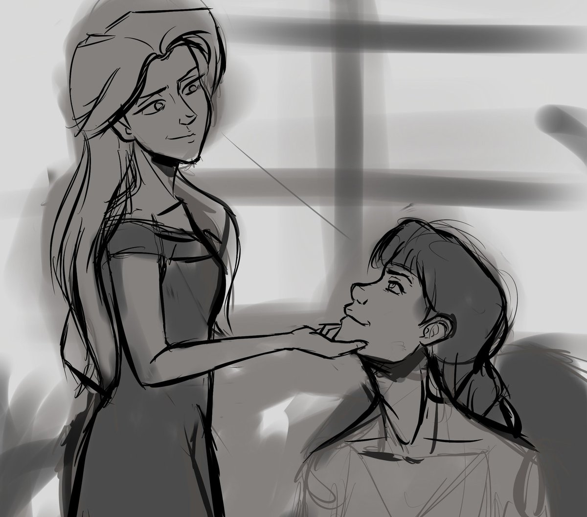 I needed to get this sketch out of my system #elsamaren <br>http://pic.twitter.com/IUNDIhKhj2
