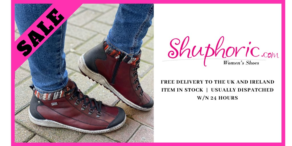 Remonte Dorndorf Remonte TEX Burgundy Patchwork Detailed Flat Lace Up Ankle Boots  #instore @ Shuphoric. POP in 🏪 today or 📞 us on +442866324870 See more in Instagram   #leather #marcotozzi #red #swag #ootd