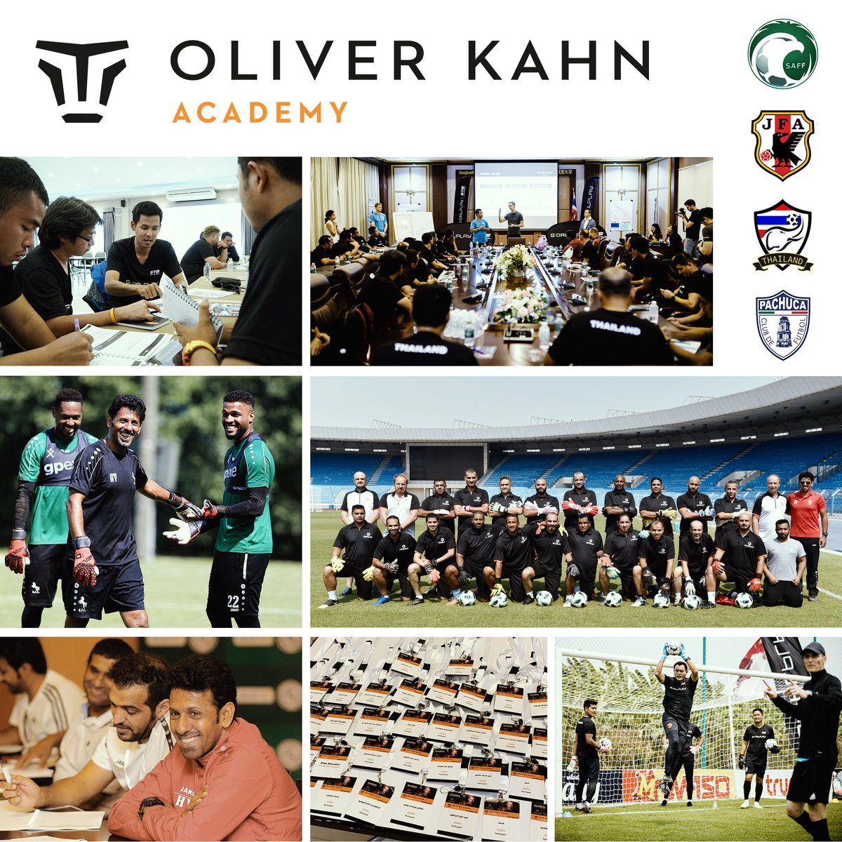 What a year! In 2019, the Oliver Kahn Academy has educated more than 500 coaches on 4 continents. It's great to see how the development of sports in countries like Thailand or Saudi Arabia, where we've been working for many years, can be driven forward. Thanks everyone involved🙏🏼 https://t.co/64dckTrhcI
