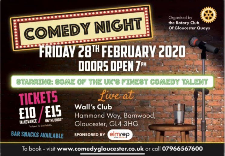 Comedy fans are in for an absolute treat next month when the #GloucesterQuays Rotary Club holds its annual #Charity #ComedyNight http://bit.ly/2TFqiLx   @Elmrep @skheatandcool #glosbizpic.twitter.com/JG7PJRAzLm