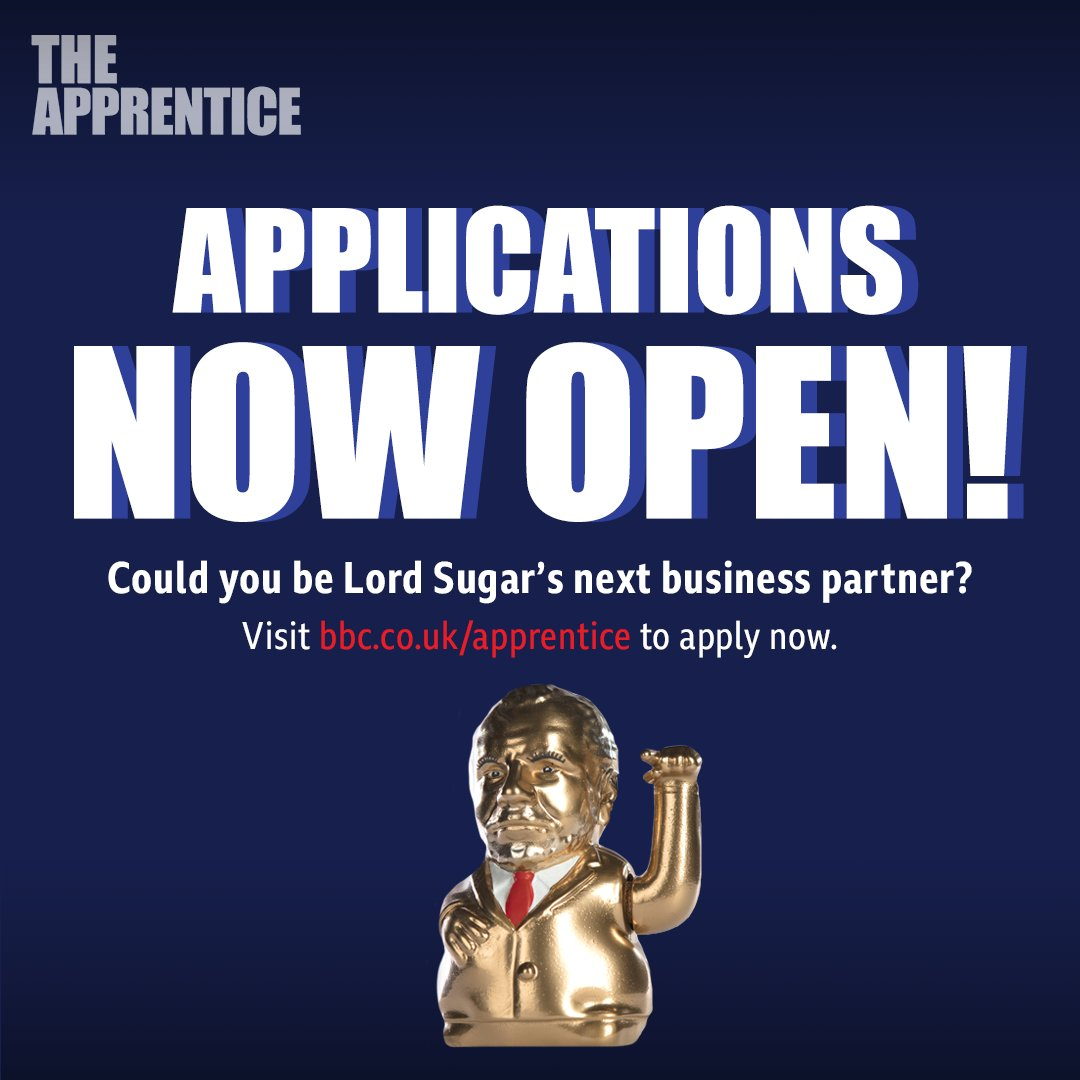 Got a business plan that could knock all the others out of the park? Think you can impress Lord Sugar in some of the toughest business tasks out there? If so, head over here to apply for #TheApprentice 2020!: bbc.co.uk/apprentice