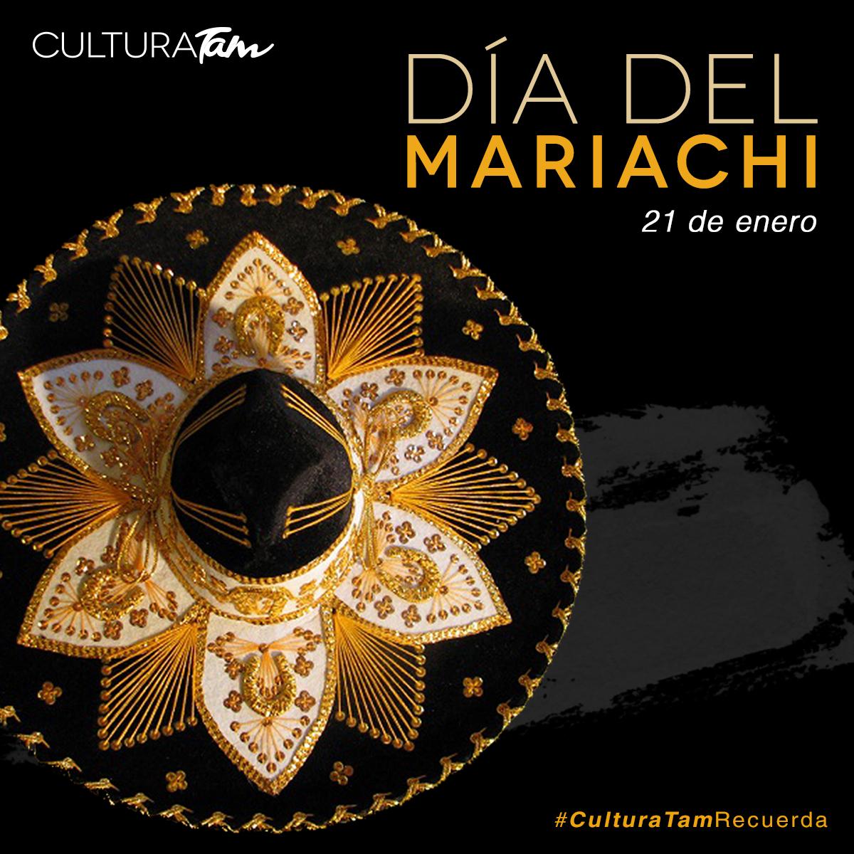 #CulturaTamRecuerdaAy, ay, ay, ay canta y no llores 🎶En el 2011 la @UNESCO declaró al mariachi Patrimonio Cultural Inmaterial de la Humanidad, por ser una expresión cultural que constituye parte importante de la identidad mexicana. ¡Feliz  #DíaDelMariachi! 🎉
