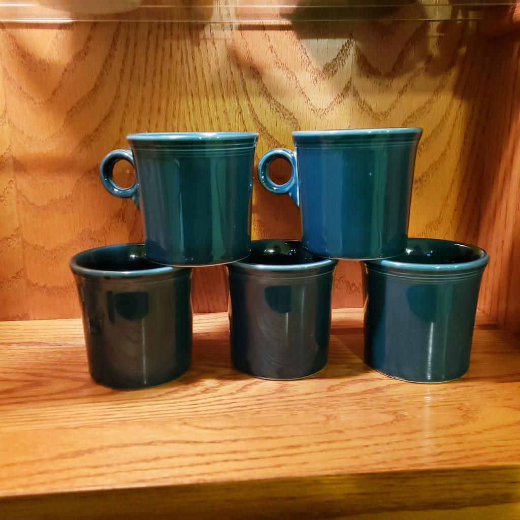 Excited to share the latest addition to my #etsy shop: Fiestaware Evergreen Mugs. Set of 5 https://etsy.me/2GdH4tf  #etsyshop #etsyseller #handmade #smallbusiness #etsyfinds #art #homedecor #love #jewelry #etsylove #etsystore  #etsysellers #etsygifts #diy #mondaythoughts pic.twitter.com/QBrftE6LcF
