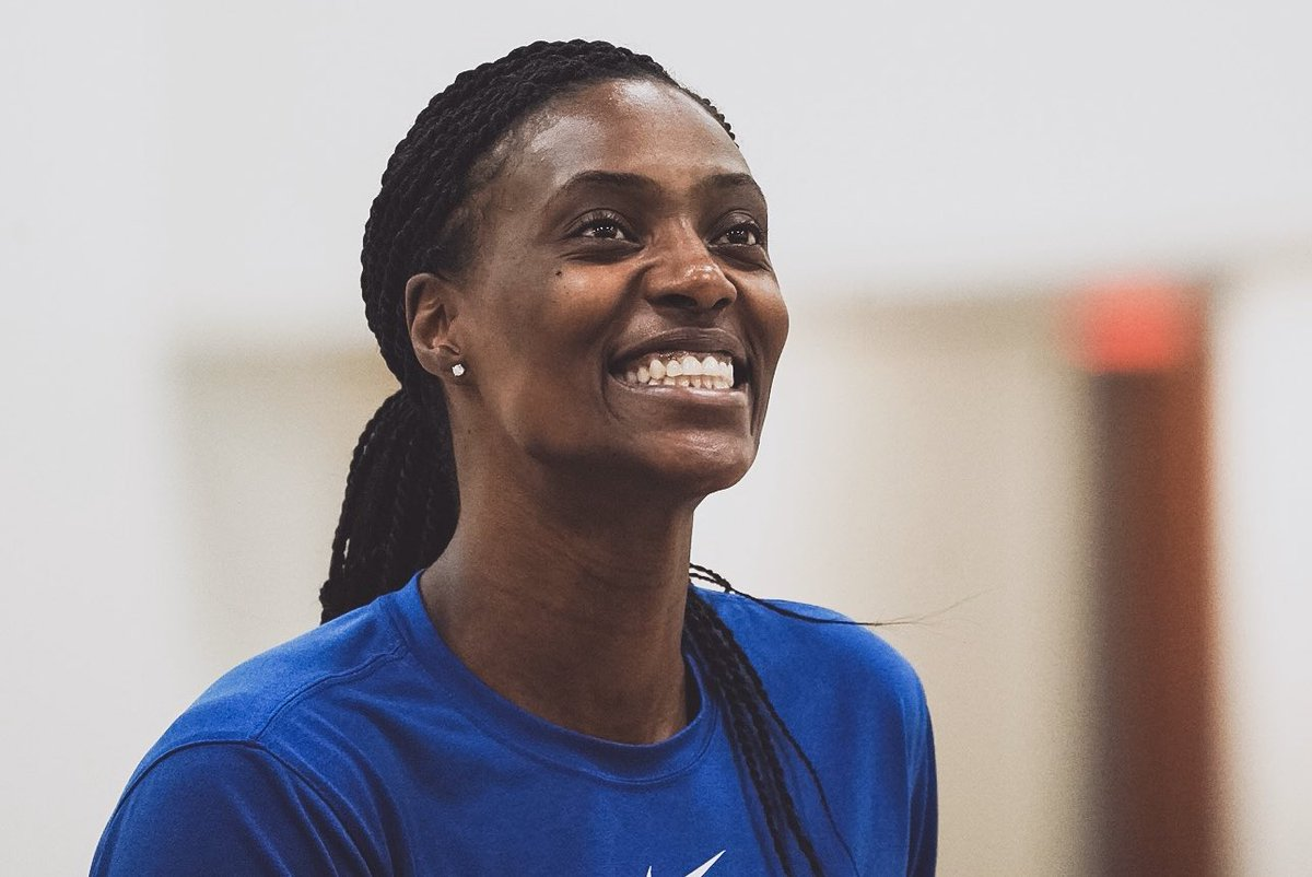 Syl could be home... in Miami... on a beach...  But she's here in Minnesota putting in the work.   And that has us cheesin' too.