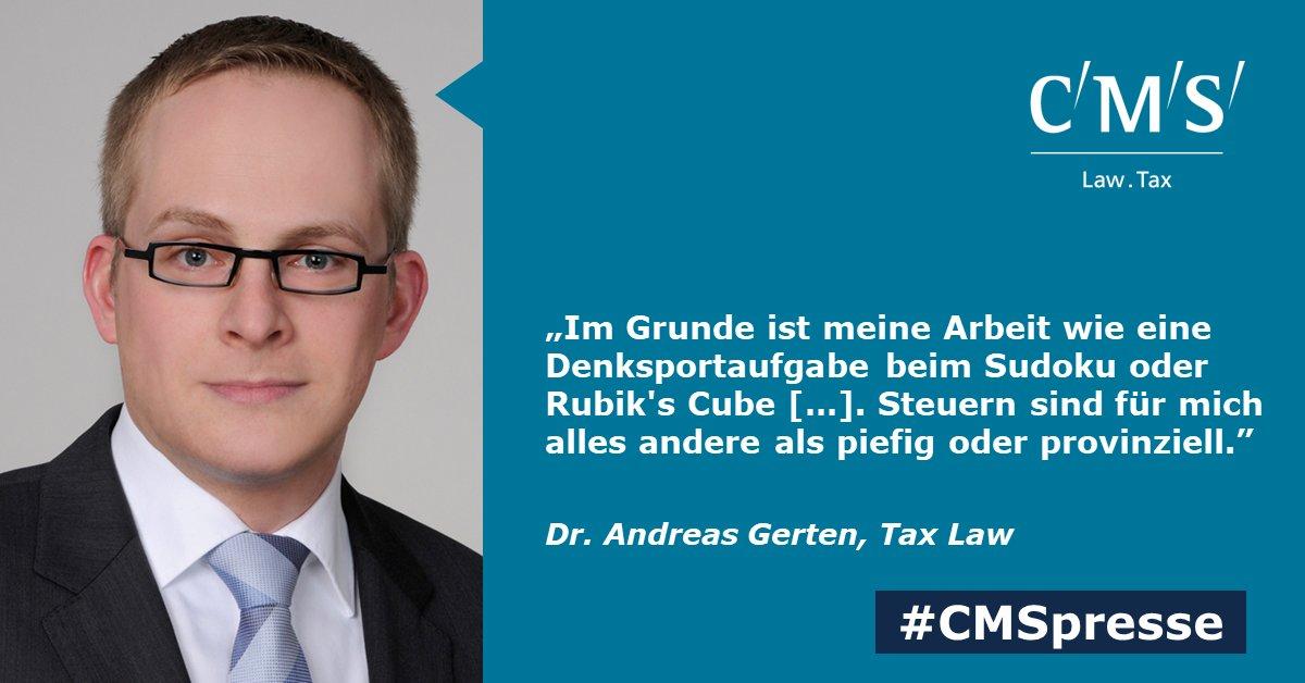 test Twitter Media - BRAND EINS: Steuern - piefig? Auf keinen Fall, sagt unser Rechtsanwalt und Steuerberater Dr. Andreas Gerten, und erklärt in @brandeins, was seinen Job so attraktiv macht. (€) #CMSpresse https://t.co/iIpoH3yWMq