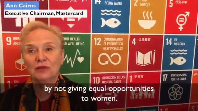 Executive Vice Chair of @Mastercard @AnnMCairns explains how business can play a key role in empowering women and girls in the workplace, marketplace and community at #SDGLive from Davos.💻 Watch the preview below 👇 and follow along on @UNWebTV #UnitingBusiness @UNGeneva