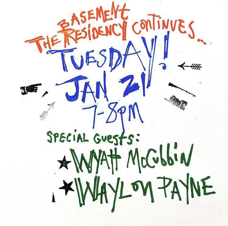 Tonight! 7-8pm @TheBasementNash  featurin real country singers @wyattmccubbin and @WaylonPayne https://t.co/Z9Xfa2rQQX