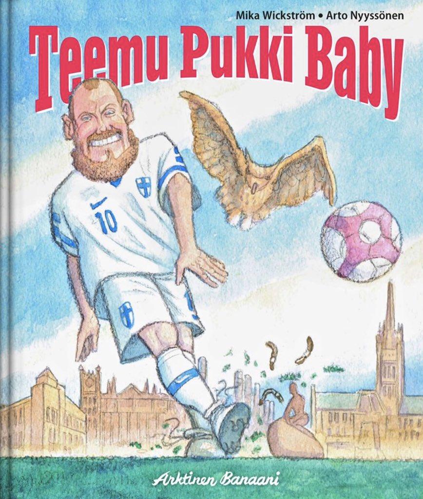 Kaikki lasten (omien ja muidenkin) syntymäpäivälahjaongelmat on ratkaistu. Teemu Pukki Baby -kirja ilmestyy toukokuussa 2020 ❤️🇫🇮⚽️ #pukkiparty #Huuhkajat #EURO2020