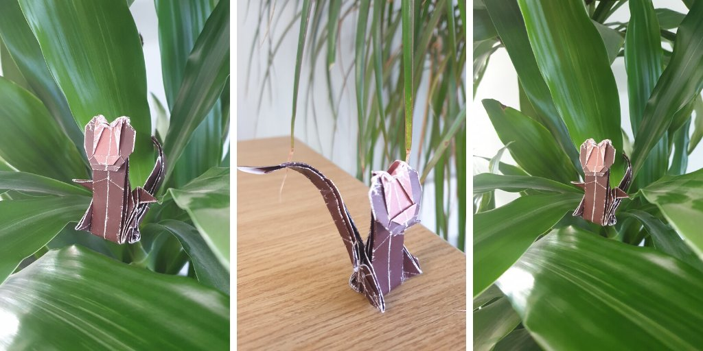 Look at this cheeky fella who was inspired by #CreateWithColotech! There is still time to get your creative hats on and post your origami masterpieces for a chance of winning a £50 @VirginExp voucher.