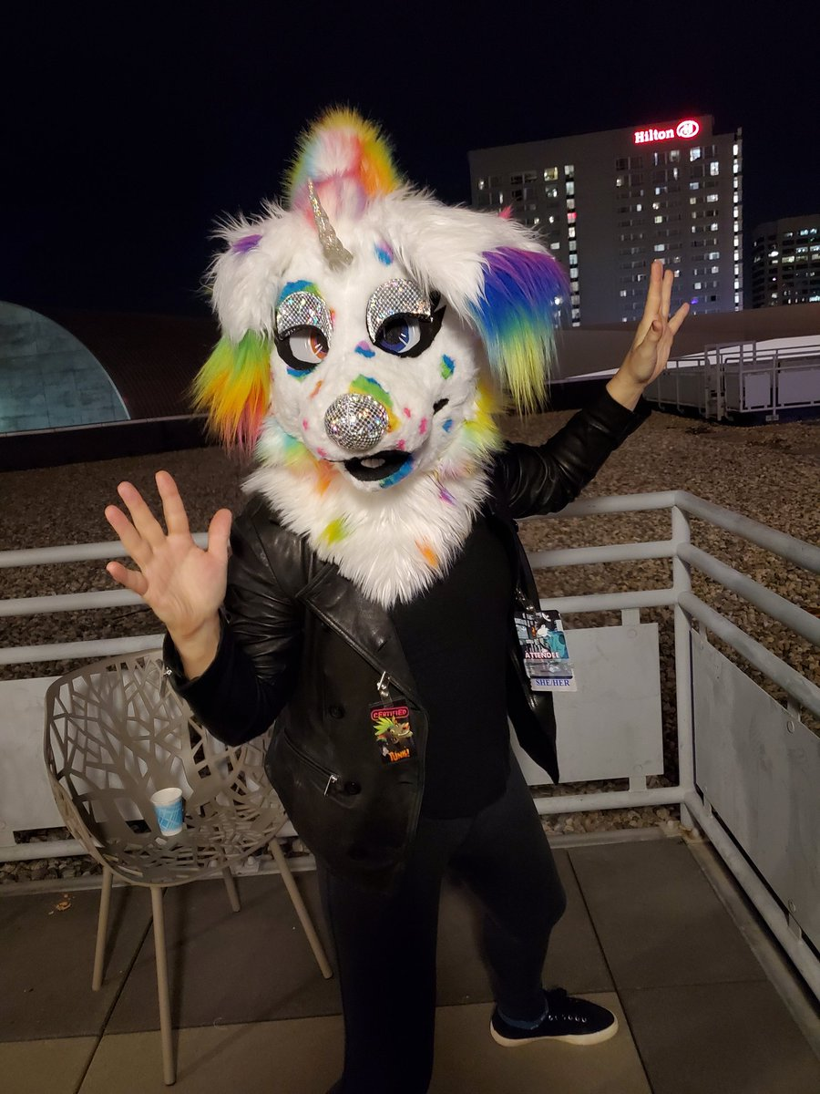 S h e Worn by the lovely @QueercoreTrash  You captured her so well  Too cute~!! #fc2020 #furcon #fursuit #furryfandom #furrytrash #furry #furtherconfusion #furryconvention <br>http://pic.twitter.com/48eBal0Ugs