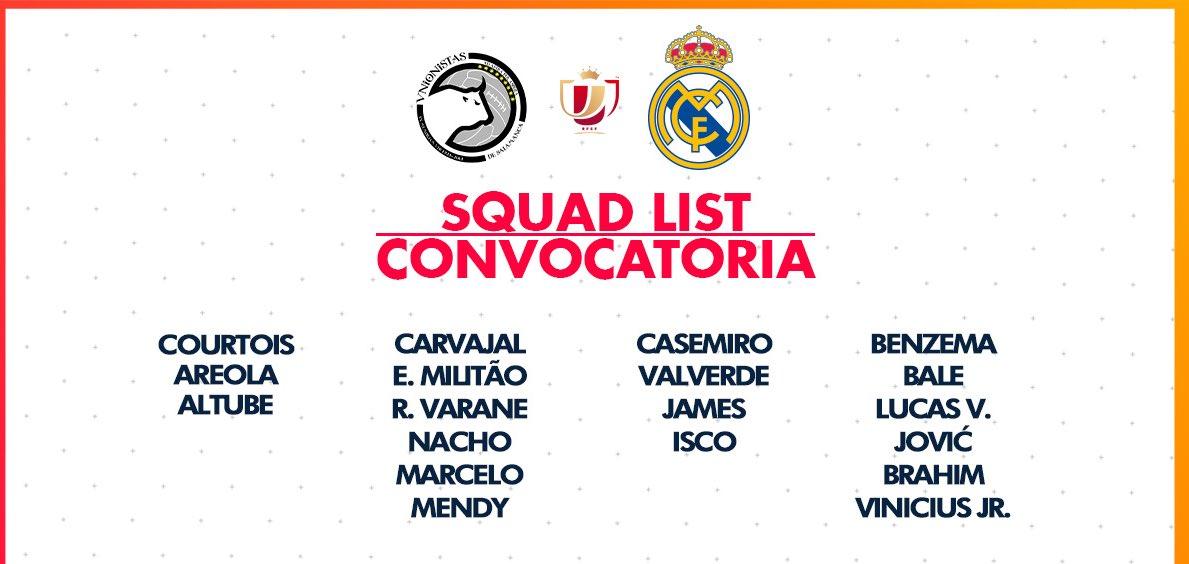 📋 CONVOCATORIA MADRID A Salamanca sin Kroos, Modric, Rodrygo, Ramos y Mariano.