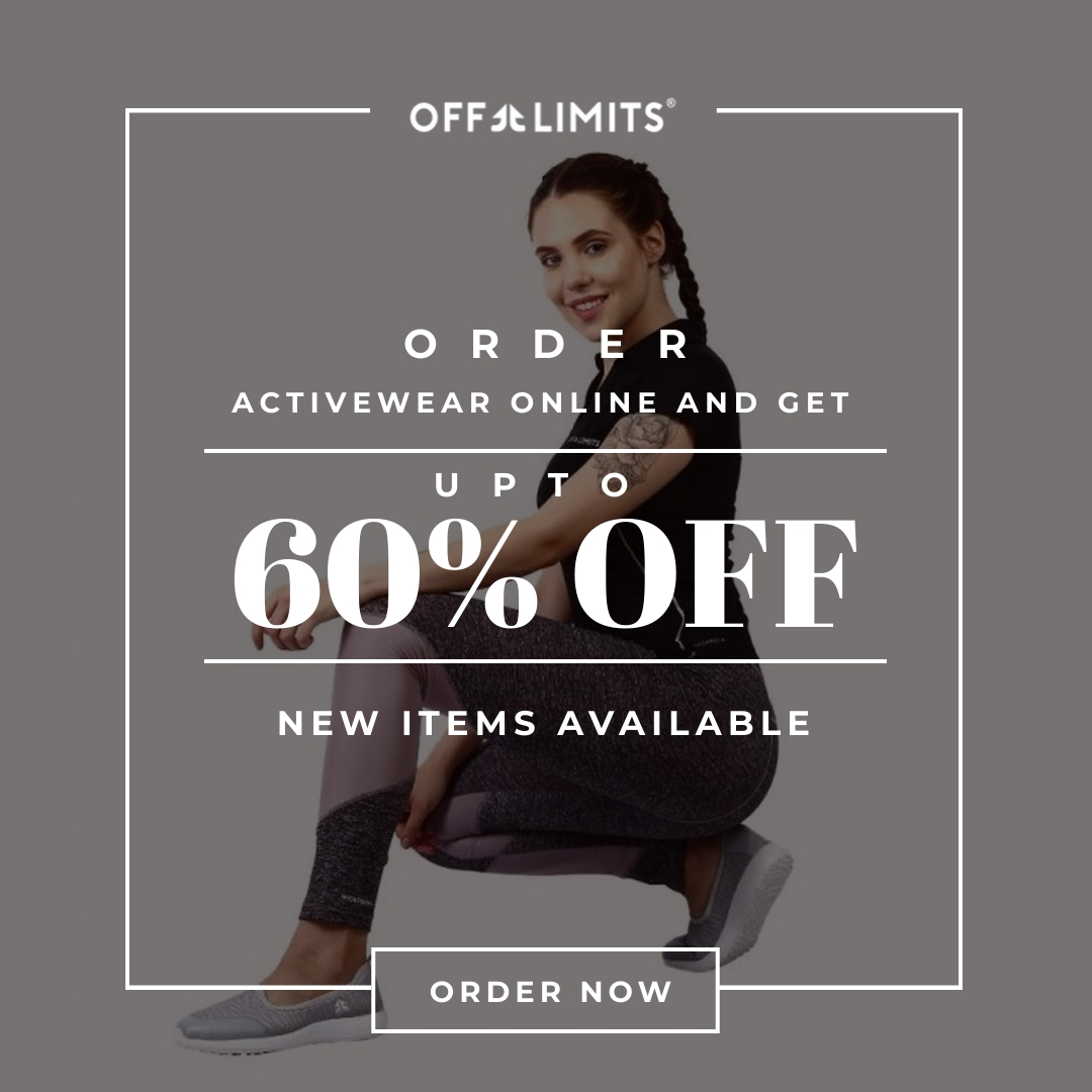 """Avail discounts up to 60% Off on Performance Footwear and Activewear.  Use code """"OL10"""" on checkout to avail Extra 10% Off.  Visit: https://bit.ly/2GbRSIc  #sale #footwear #offlimits #defy #gobeyond #onlineshopping #activewear #deftalllimits #defy #nolimits #iambeyondpic.twitter.com/XH5ssF2EUc"""