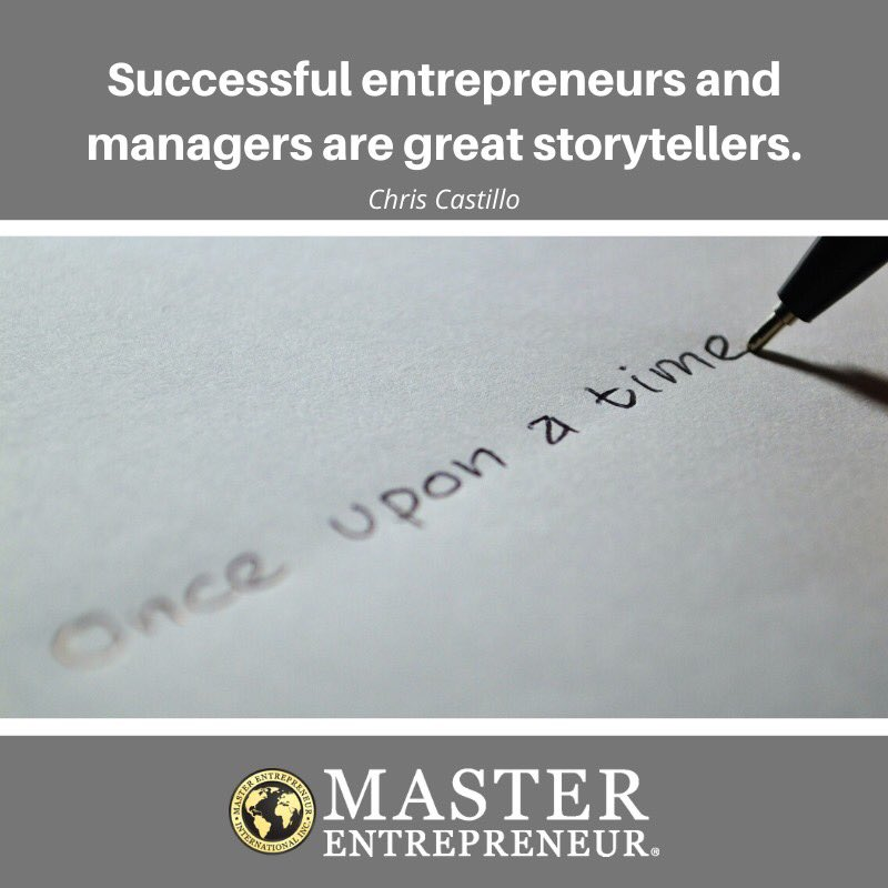 "Check out my article on why I believe that ""Successful entrepreneurs and managers are great storytellers"" https://t.co/WUfY0wqTyV #Entrepreneur #entrepreneurs #entrepreneurship #leadership #managers #story #storytelling #Management https://t.co/RXNcCbO7A6"