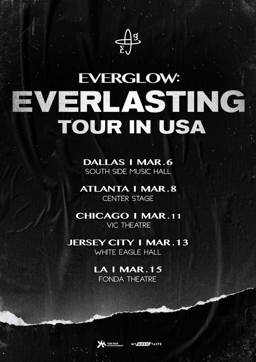 FOREVER in the US!  EVERGLOW is coming for a much needed glow up in the USA!  Mark your calendars and get ready for EVERGLOW: Everlasting Tour in USA  Detailed info to be released soon on  https:// mmt.fans/Df5D       #EVERGLOW with #MyMusicTaste #EverlastingTour #EVERGLOWinUSA<br>http://pic.twitter.com/VJ9jXOK2H3