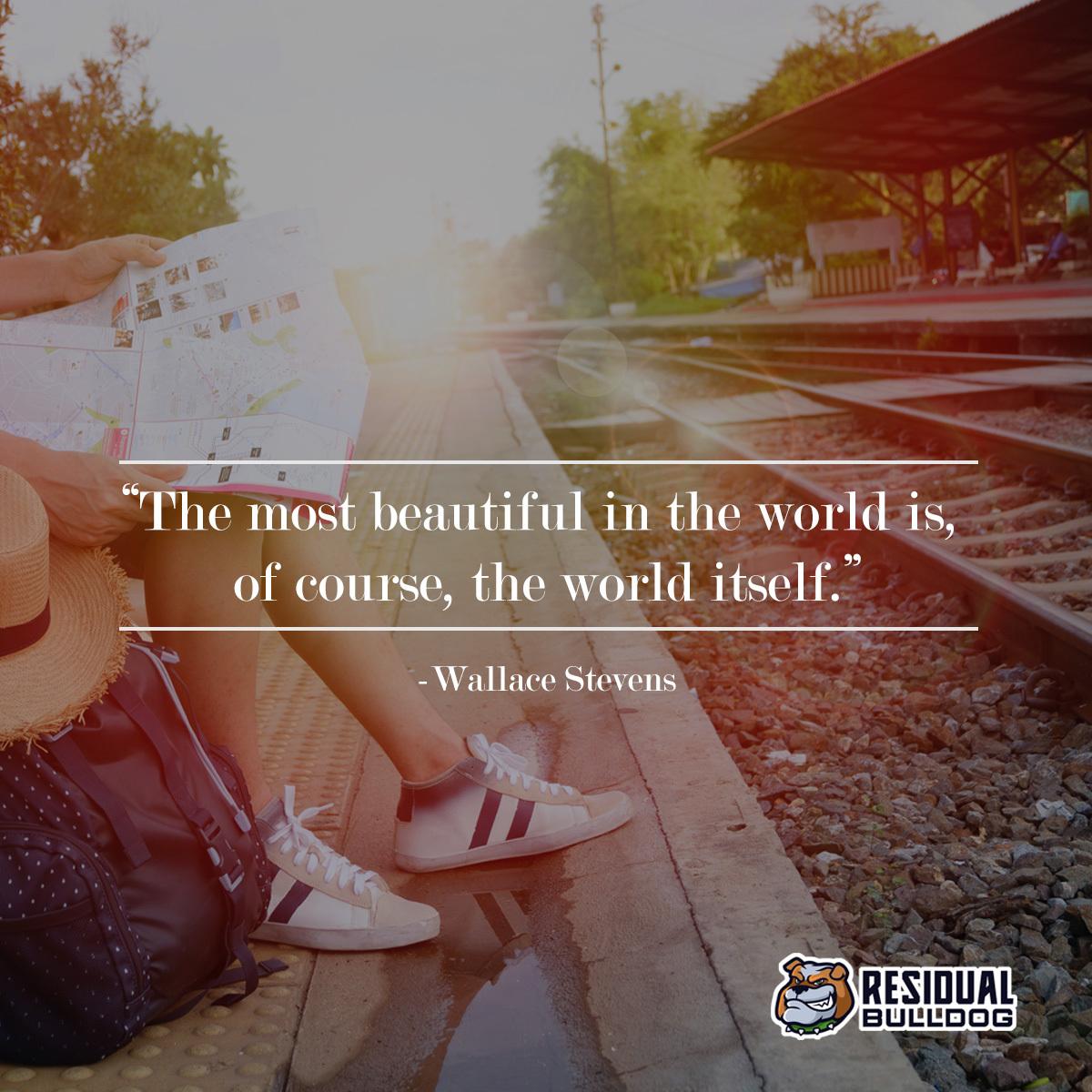 """The most beautiful in the world is, of course, the world itself."" - Wallace Stevens  . . . #socialmediamarketing #lifestyle #travel #inspiration #laptoplifestyle #internetbusiness #homebusiness #makemoneywhileyousleep #lifegoalspic.twitter.com/a12jeDAv7Q"
