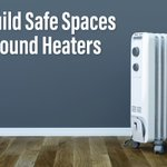 Space heaters are convenient, but can be a hazard. Keep them at least 3 feet away from furniture, drapes and all combustible materials. #safetytips